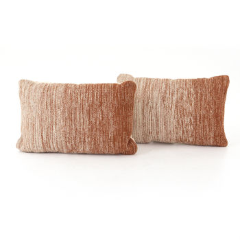 """Tawny Ombre Pillow, Set Of 2-16X24"""""""