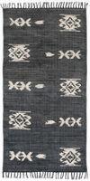 Tribal Runner, 3X9'-Faded Black