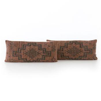 Tribal Rust Lumbar Pillow, Set Of 2