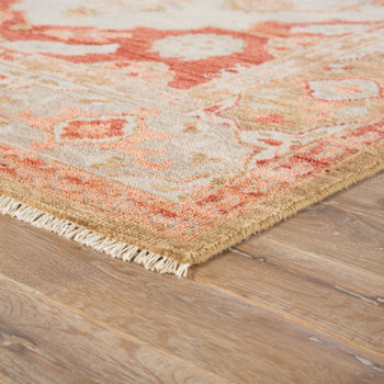 Artemis By Jaipur Living Azra Hand-Knotted Floral Red/ Tan Area Rug (9'X12')