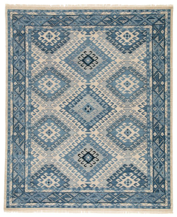 Artemis By Jaipur Living Hobbs Hand-Knotted Geometric Blue/ Light Gray Area Rug (9'X12')