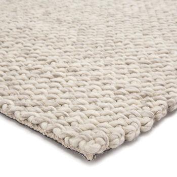 Jaipur Living Alta Handmade Solid Gray/ White Area Rug (9'X12')