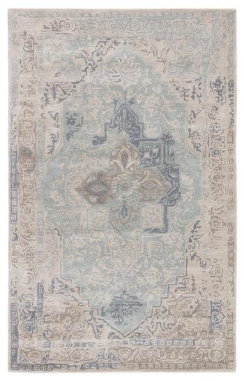 Jaipur Living Bronde Handmade Medallion Gray/ Light Blue Area Rug (8'X10')