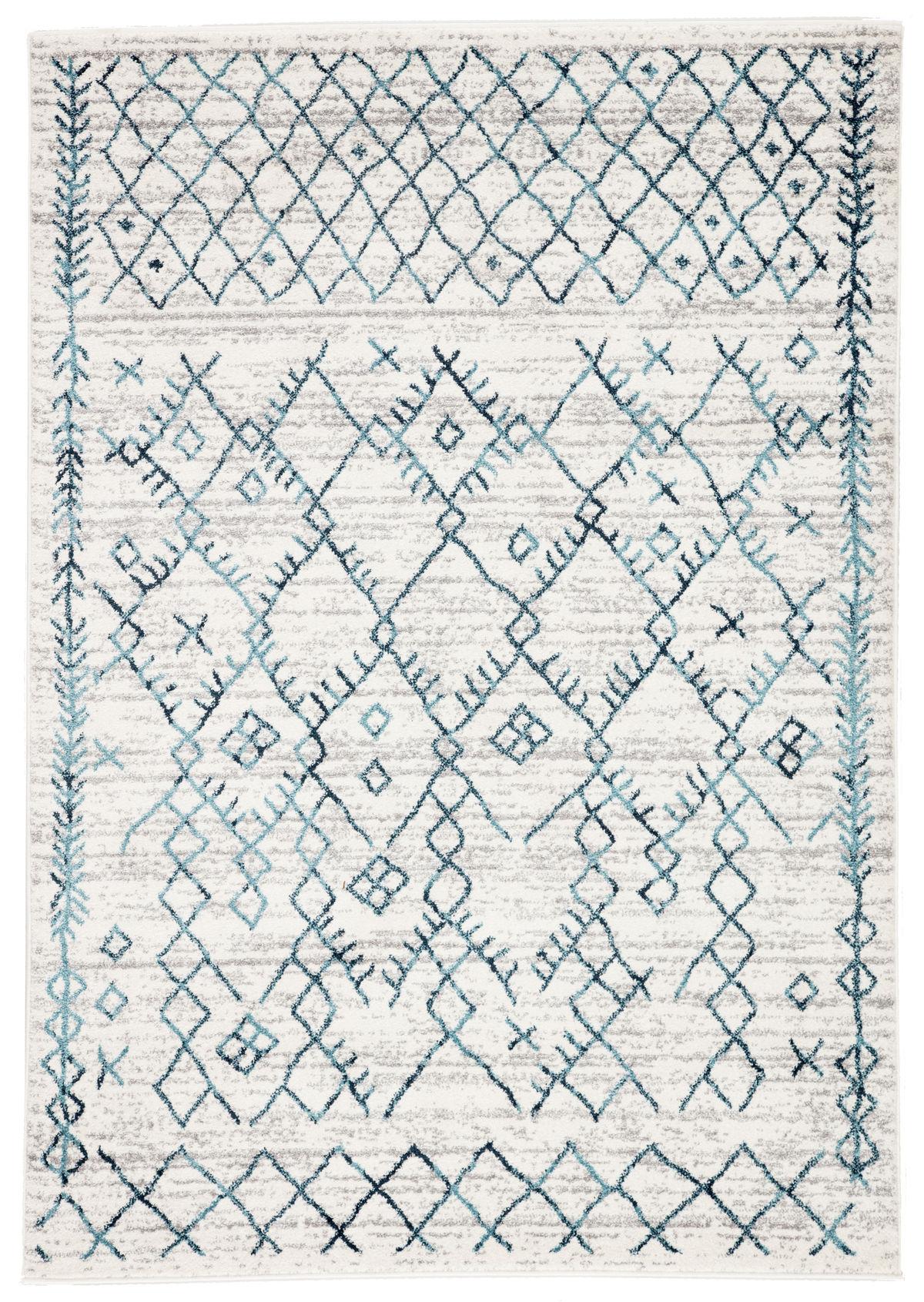 "Jaipur Living Copeland Trellis White/ Teal Area Rug (8'10""X12')"