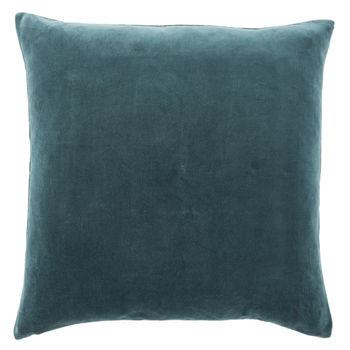 "22"" Down Pillow - Teal/Cream"