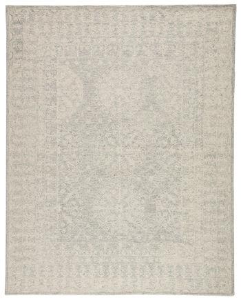 Jaipur Living Linde Handmade Medallion Gray/ White Area Rug (9'X12')