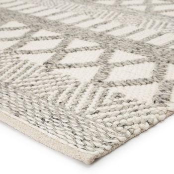 Jaipur Living Sandhurst Handmade Geometric Gray/ White Area Rug (8'X10')