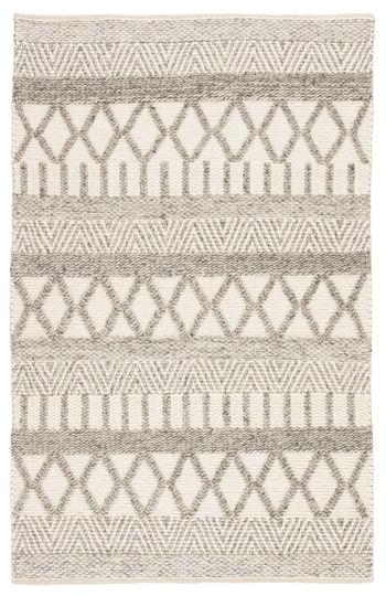 Jaipur Living Sandhurst Handmade Geometric Gray/ White Area Rug (9'X12')