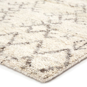 Jaipur Living Zola Hand-Knotted Geometric Ivory/ Brown Area Rug (9'X12')