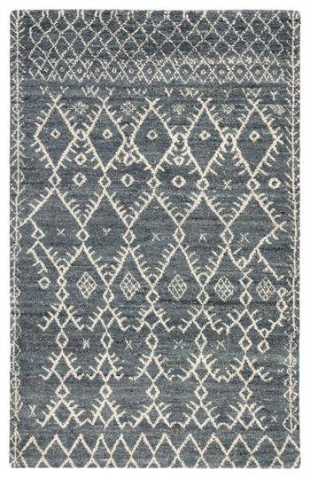 Jaipur Living Zola Hand-Knotted Trellis Blue/ Ivory Area Rug (9'X12')