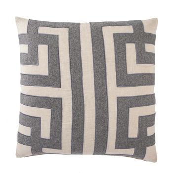 "Cosmic CNK06 Ordella Gray/Silver Geometric Throw Pillow 22"", Down"