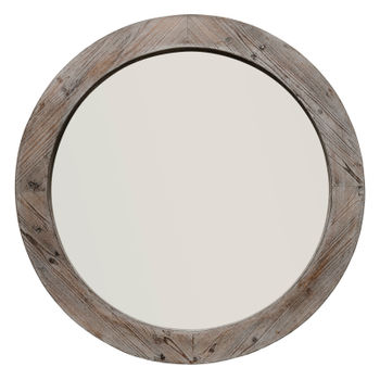 Reclaimed Mirror In Natural Wood