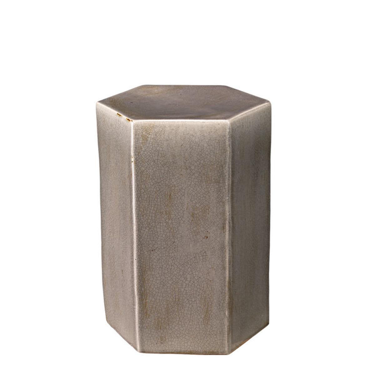 Small Porto Side Table In Grey Ceramic