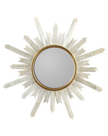 Selenite Starburst Mirror