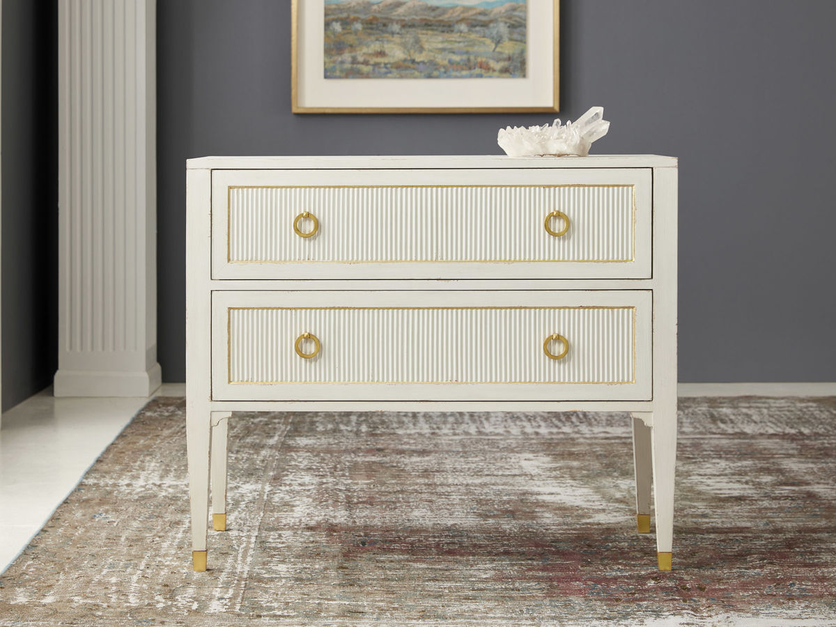 Swedish Reeded Two Drawer Chest