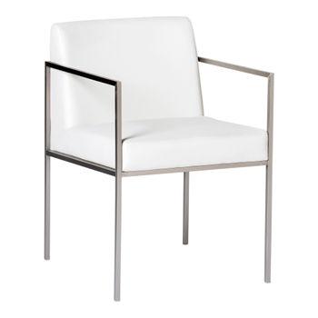 Capo Arm Chair White (Set of 2)