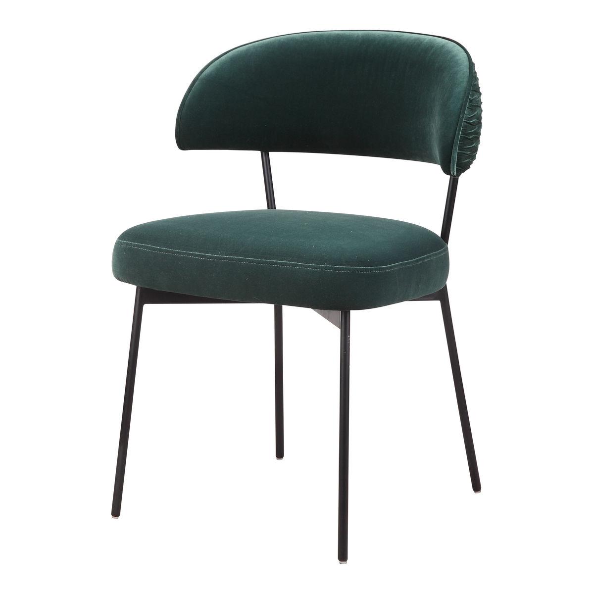 Dolce Dining Chair Green Velvet