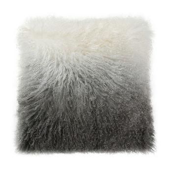 Lamb Fur Pillow Light Grey Spectrum