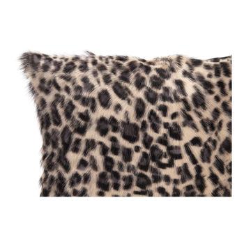 Spotted Goat Fur Pillow Blue Leopard