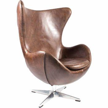 St Anne Swivel Club Chair Brown