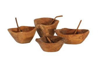 Mini Bowl With Spoon, Set Of 4