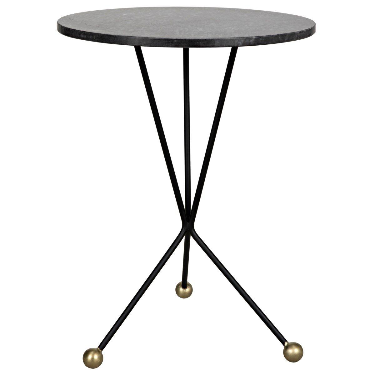 Elan Side Table, Black Metal