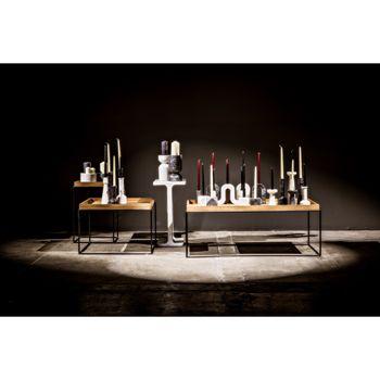 Elias Decorative Candle Holder, Set Of 2, White Marble