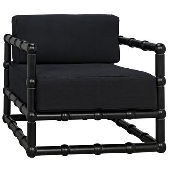 Laura Club Chair, Hand-Rubbed Black