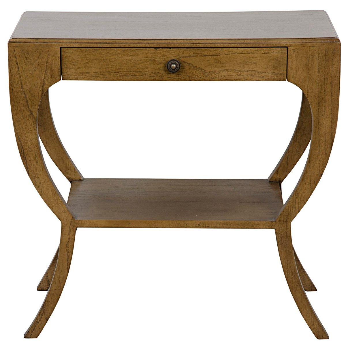Maude Side Table, Saddle Brown