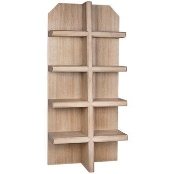Pearce Bookcase, Washed Walnut