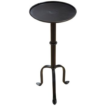Qs Tini Side Table, Black Metal