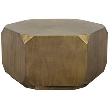 Tytus Coffee Table, Aged Brass
