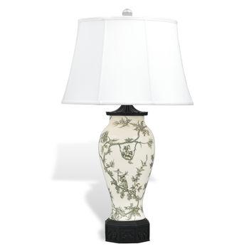 "Windsor Toile Black Lamp 36"" H"