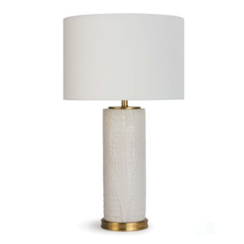 Blake Ceramic Table Lamp (White)