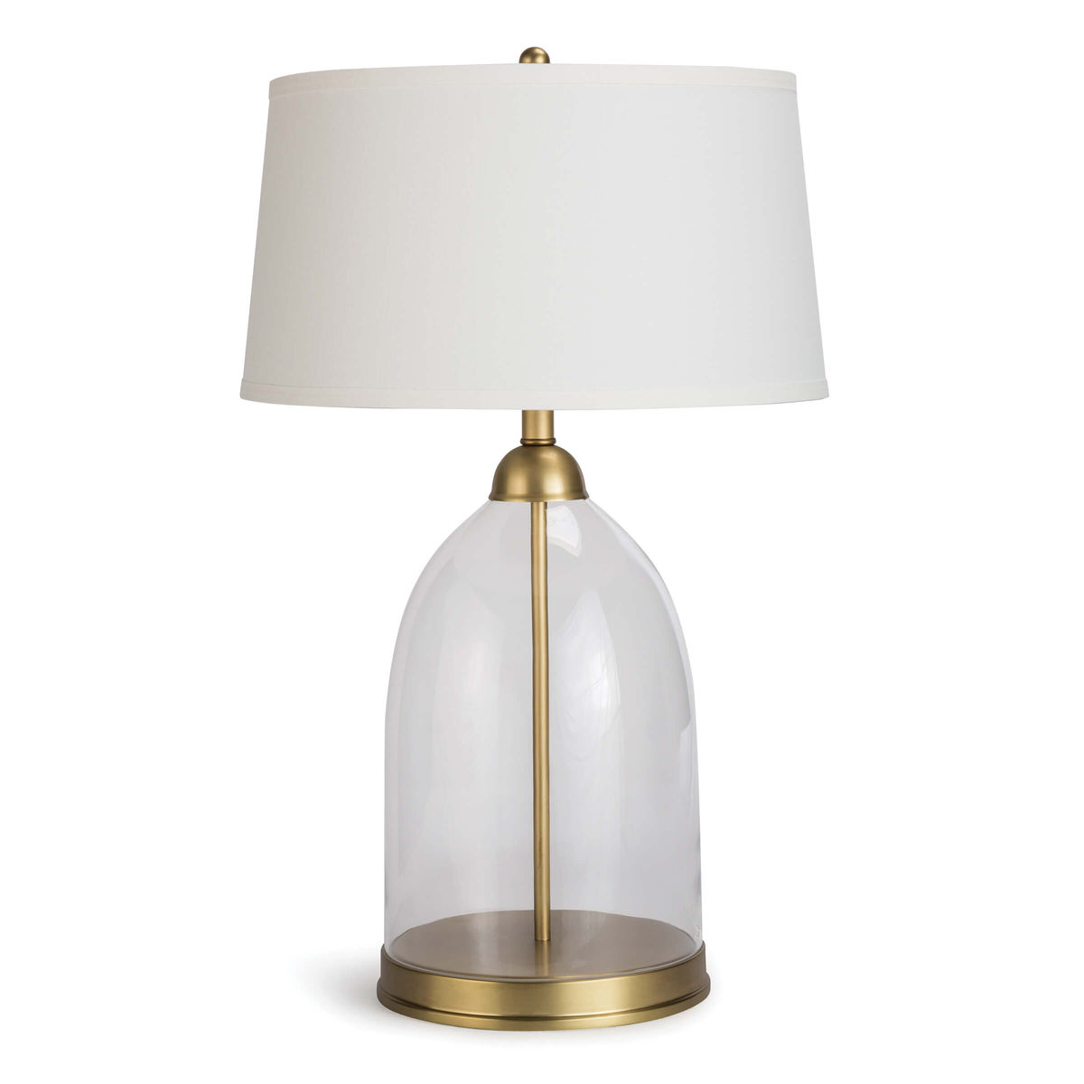 Glass Dome Table Lamp (Natural Brass)