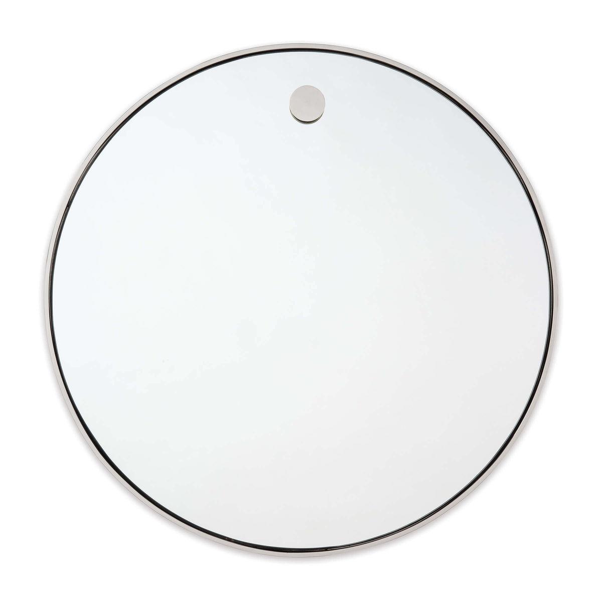 Hanging Circular Mirror (Polished Nickel)