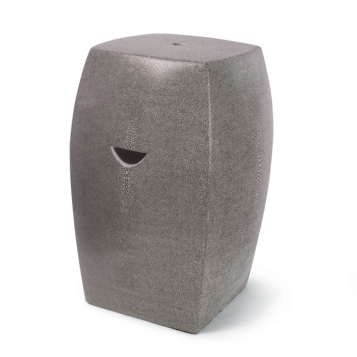 Presley Ceramic Garden Stool (Charcoal Grey)