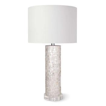 Scalloped Capiz Table Lamp