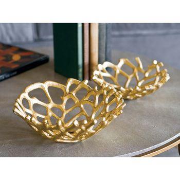 Web Bowl Set Of 2 (Gilded)