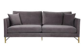 Massi Grey Velvet Sofa