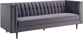 Sebastian Grey Velvet Sofa