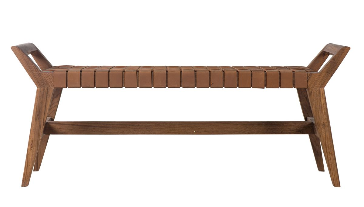 Cove Bench - Brown Leather
