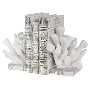 Charbel White Bookends, Set/2