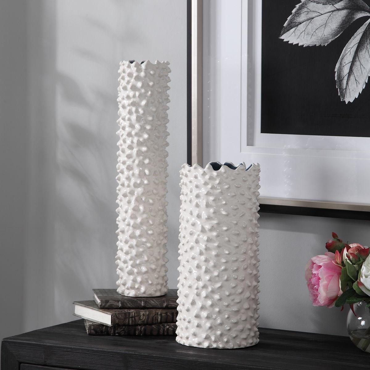 Ciji White Vases, Set/2