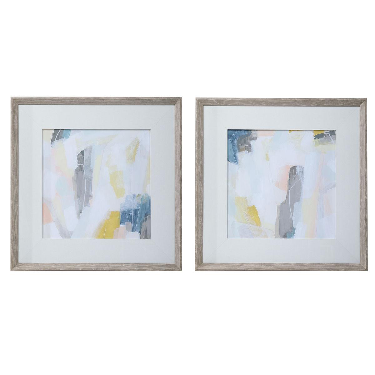 Uttermost Fractal Pastel Abstract Art, S/2
