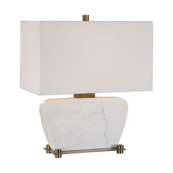 Uttermost Genessy White Marble Table Lamp