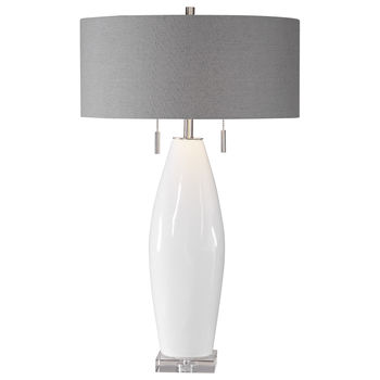 Uttermost Laurie White Ceramic Table Lamp