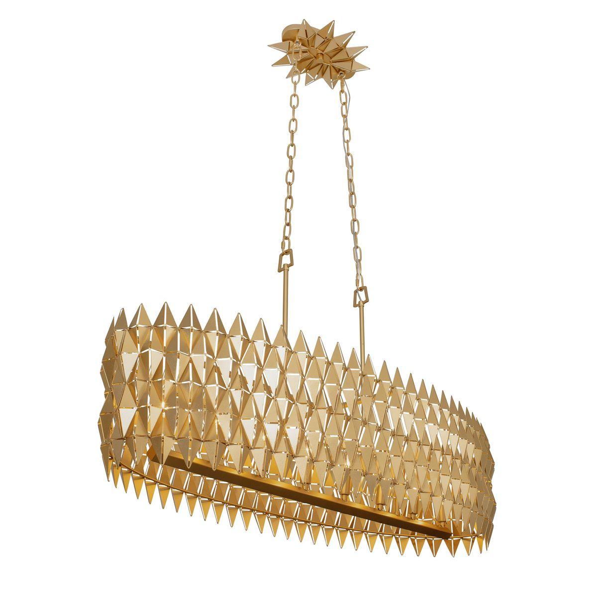 Forever 8-Lt Linear Pendant - French Gold