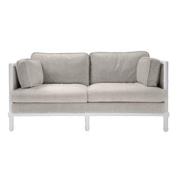 Ainsley Whnl, Bamboo Edge White Lacquer Sofa
