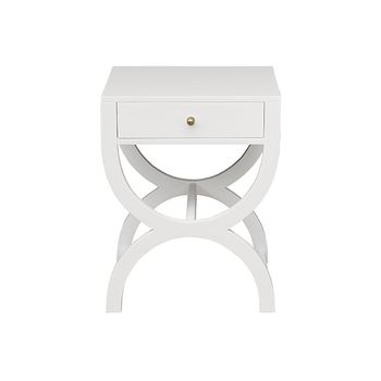 Alexis Wh, One Drawer Side Table